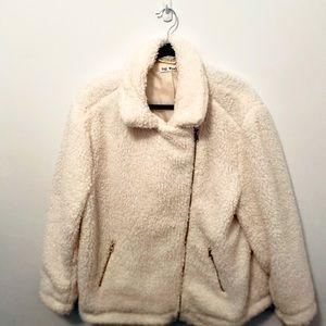 Say What? Plus Size 2XL white teddy bear jacket